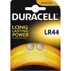 Baterii alcaline DURACELL LR44, 1.5V, 2 bucati