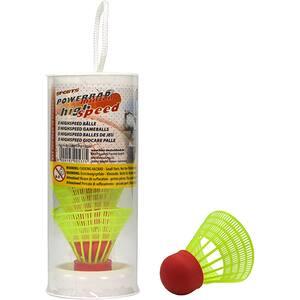 Fluturas badminton BEST SPORTING 841185, PVC, 5 bucati, verde-rosu