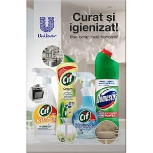 Pachet detergenti pentru curatarea bucatariei CIF + DOMESTOS, 4 bucati