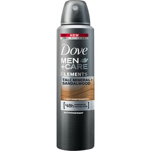Deodorant spray antiperspirant DOVE Men+Care Talc Mineral + Sandalwood, pentru barbati, 150ml