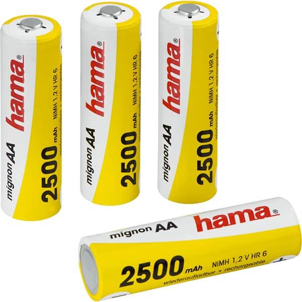 Acumulatori HAMA 87056, AA, Ni-MH, 2500 mAh, 4 bucati