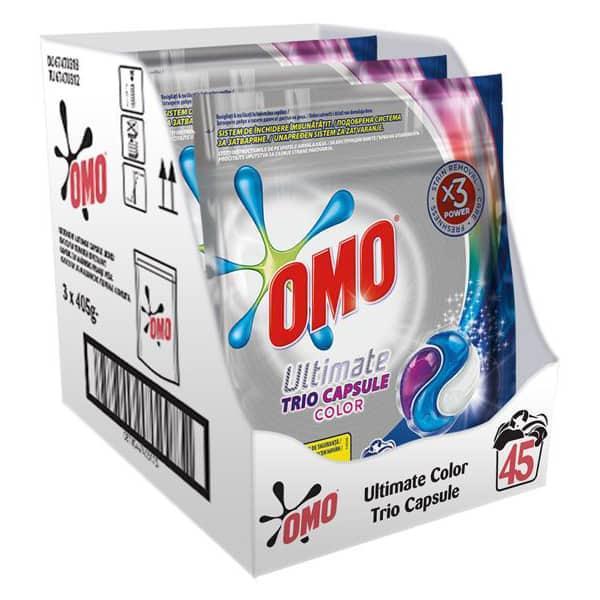 Detergent capsule OMO Ultimate Color Trio Caps, 45 Spalari