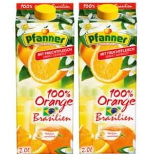 Bautura racoritoare necarbogazoasa PFANNER Portocale Brazilia 2L x 2 cutii