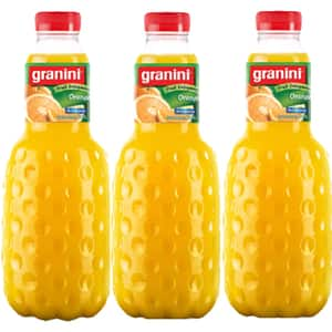 Bautura racoritoare necarbogazoasa GRANINI Portocale 100% 1L x 3 sticle