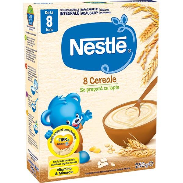 Cereale NESTLE 8 Cereale, 12385730, 8 luni+, 250g