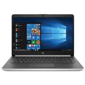 "Laptop HP 14-dk0000nq, AMD Ryzen 5-3500U pana la 3.7GHz, 14"" Full HD, 8GB, SSD 512GB, AMD Radeon Vega 8, Windows 10 Home, argintiu"