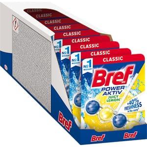 Odorizant toaleta BREF Power Aktiv Lemon, 10 x 50g
