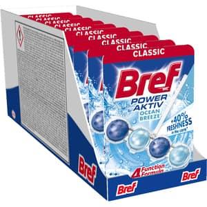 Odorizant toaleta BREF Power Aktiv Ocean Breeze, 10 x 50g