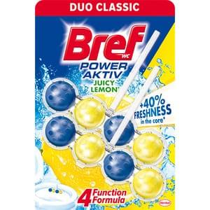 Odorizant toaleta BREF Power Aktiv Juicy Lemon, 2 x 50g