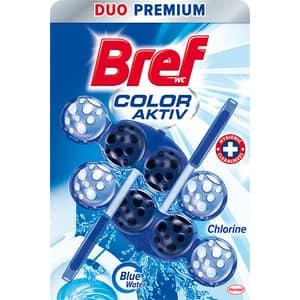 Odorizant toaleta BREF Color Water Chlorine, 2 x 50g