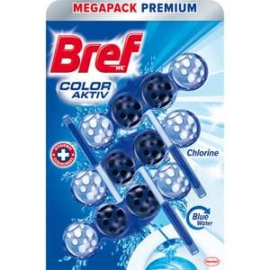 Odorizant toaleta BREF Color Water Chlorine, 3 x 50g