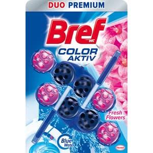 Odorizant toaleta BREF Color Aktiv Fresh Flower, 2 x 50g
