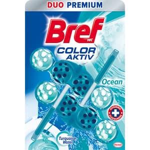 Odorizant toaleta BREF Turquoise Aktiv Ocean, 2 x 50g