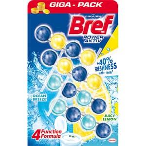 Odorizant toaleta BREF Power Aktiv Lemon-Ocean, 4 x 50g