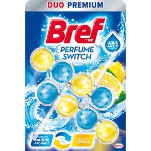 Odorizant toaleta BREF Perfume Switch Marine Citrus, 2 x 50g