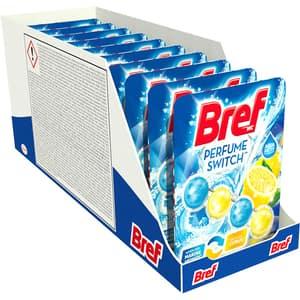 Odorizant toaleta BREF Perfume Switch Marine Citrus, 10 x 50g