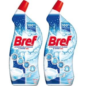 Solutie curatare toaleta BREF WC Gel Fresh mint, 2 x 700ml