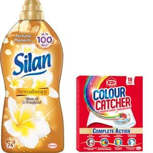 Pachet Balsam de rufe SILAN Aromatherapy Citrus Oil, 1.85l, 74 spalari + Servetele K2R Colour Catcher, 10 buc