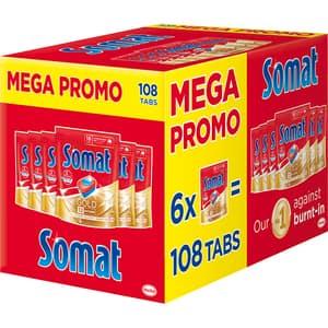 Detergent pentru masina de spalat vase, SOMAT Gold Mega Box, 108 tablete