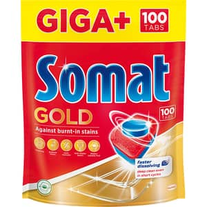 Detergent pentru masina de spalat vase SOMAT Gold Giga Plus, 100 tablete