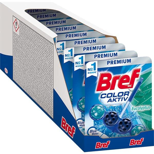 Odorizant toaleta BREF Blue Aktiv Eucalypt, 10 x 50g