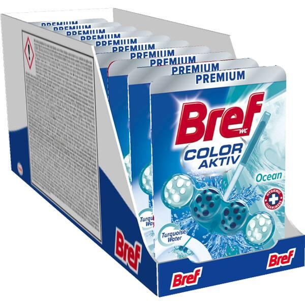 Odorizant toaleta BREF Turquoise Water Ocean, 10 x 50g