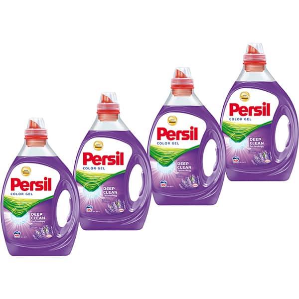 Detergent lichid PERSIL Color Gel Lavender, 4 x 2l, 160 spalari