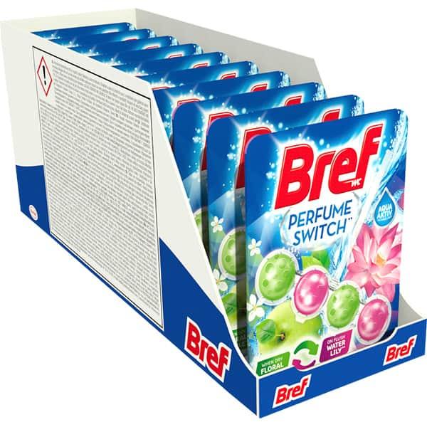 Odorizant toaleta BREF Perfume Switch Apple Water Lilly, 10 x 50g