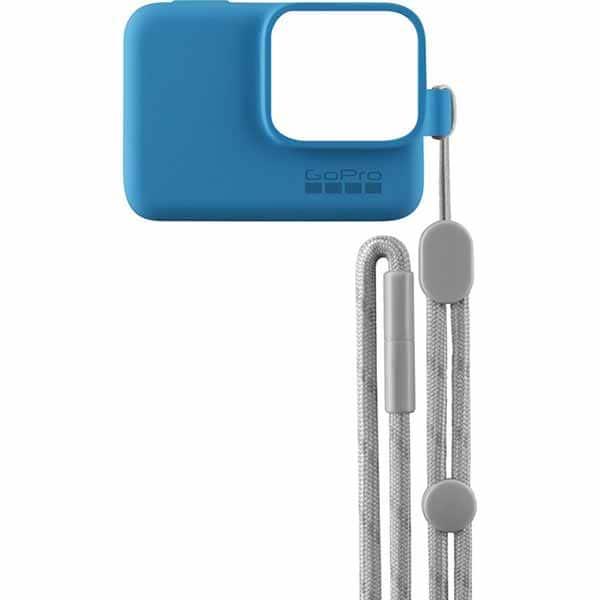 Husa de silicon + Snur reglabil GO PRO Sleeve, albastra
