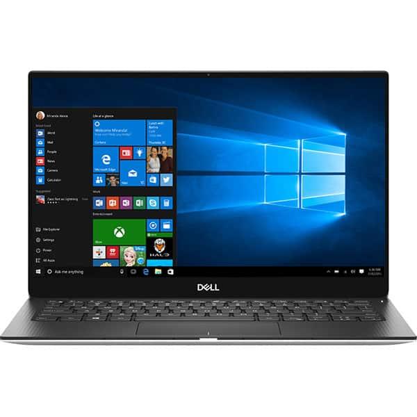 """Laptop DELL XPS 13 9380, Intel Core i7-8565U pana la 4.6GHz, 13.3"""" Full HD, 16GB, SSD 512GB, Intel UHD Graphics 620, Windows 10 Pro, Argintiu"""