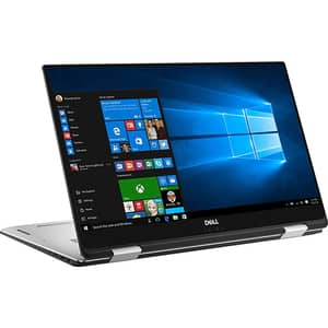 "Laptop 2 in 1 DELL XPS 15 9575, Intel Core i7-8705G pana la 4.1GHz, 15.6"" UHD 4K Touch, 16GB, SSD 512GB, AMD Radeon RX Vega M 4GB, Windows 10 Pro, Silver"