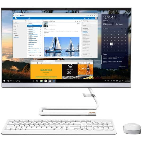 "Sistem PC All in One LENOVO IdeaCentre A340-22ICK, 21.5"" Full HD, Intel Core i3-9100T pana la 3.7GHz, 4GB, SSD 128GB + HDD 1TB, Intel UHD Graphics 630, Free Dos, alb"