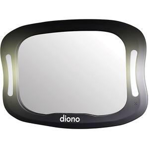 Oglinda retrovizoare cu lumina DIONO Easy View XXL D60344, negru