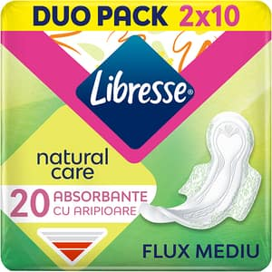 Absorbante LIBRESSE Natural Care Normal Duo, 20buc