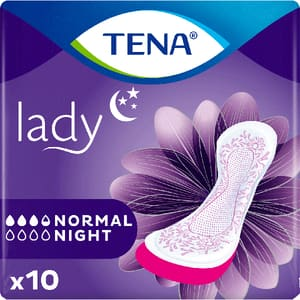 Absorbante incontinenta TENA Lady Normal Night, 10 buc