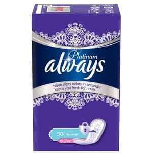 Protej-slip ALWAYS Platinum Liners Deo, 50buc