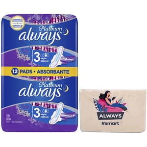 Absorbante ALWAYS Duo Platinium, Size 3, 12buc + Pouch
