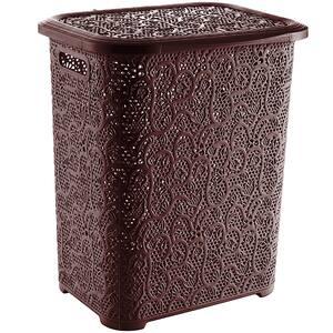 Cos pentru rufe TUFFEX Lace, plastic, 65 L, maro