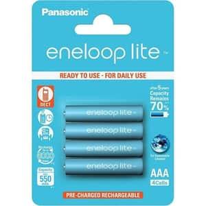 Acumulatori PANASONIC Eneloop Lite LR03/AAA, 550mAh, 4 bucati