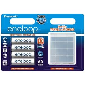 Acumulatori PANASONIC Eneloop LR6/AA, 1900mAh, 4 bucati + cutie depozitare