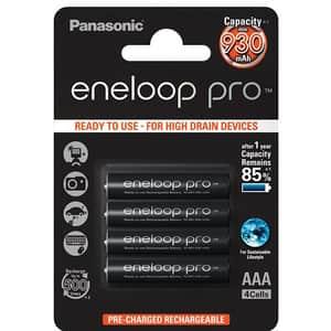Acumulatori PANASONIC Eneloop Pro LR03/AAA, 930mAh, 4 bucati