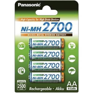 Acumulatori PANASONIC Eneloop HighCapacity LR6/AA, 2700mAh, 4 bucati