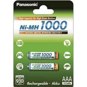 Acumulatori PANASONIC Eneloop HighCapacity LR03/AAA, 1000mAh, 2 bucati