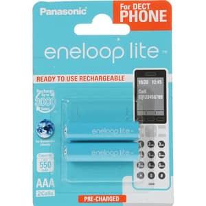 Acumulatori PANASONIC Eneloop Lite LR03/AAA, 550mAh, 2 bucati