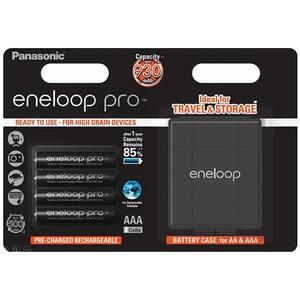 Acumulatori PANASONIC Eneloop Pro LR03/AAA, 930mAh, 4 bucati + cutie depozitare