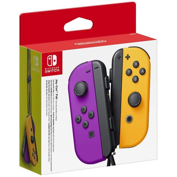 Pereche Joy-Con NINTENDO Switch, neon purple-orange