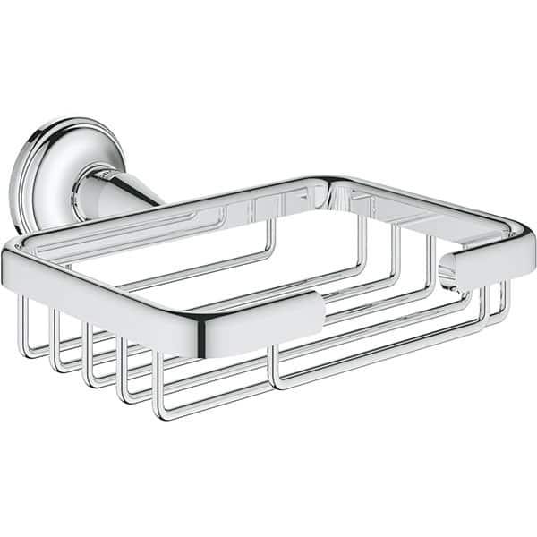 Suport perete GROHE Essentials Authentic 40659001, argintiu