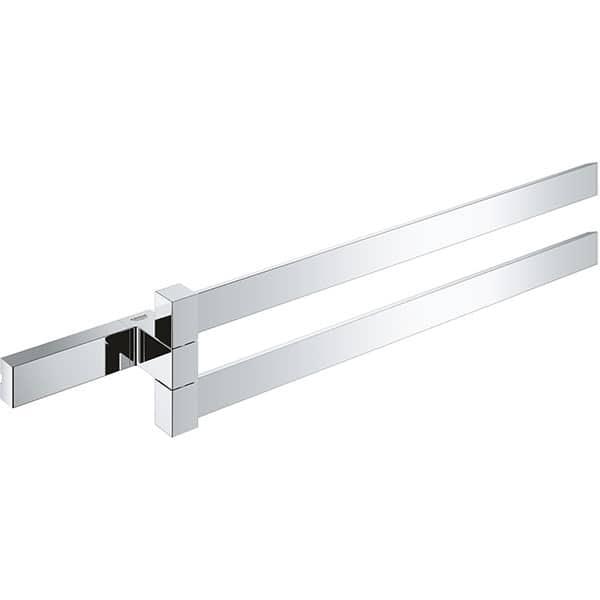 Suport prosop dublu GROHE Selection Cube 40768000, 40cm, argintiu