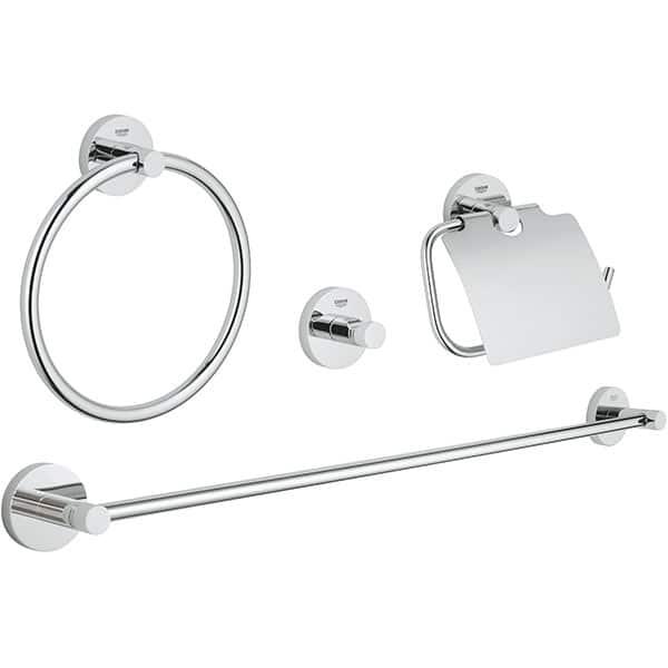 Set accesorii baie GROHE Essentials Master 40776001, 4 accesorii, argintiu