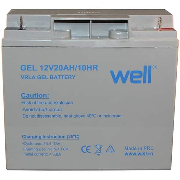 Acumulator plumb acid  WELL BAT-LEADG-12V20AH-WL, 12V, 20 Ah